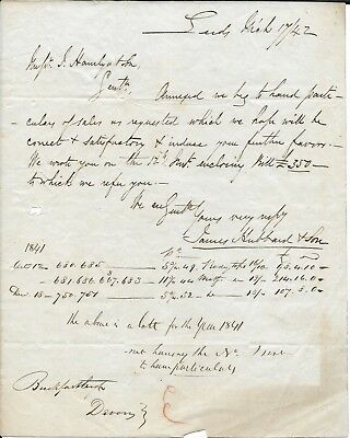 Victorian letter regarding a delivery of goods 1842 249 victorian letter from james hubbard and sons regarding sales 1842 thecheapjerseys Image collections