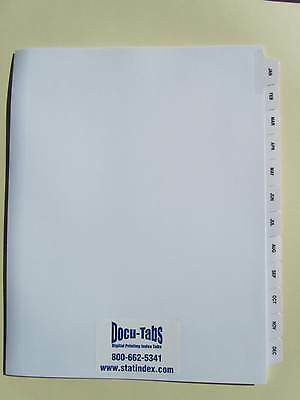 JAN-DEC Monthly Index Tab Dividers 120 SETS Collated, $1.89 per set