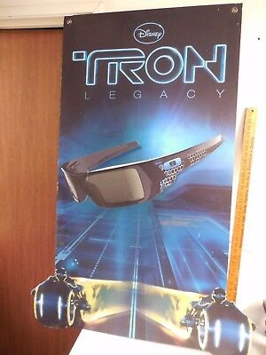 Oakley 3D Gascan Glasses Limited Edition Tron Legacy Disney Movie 2 Side Poster