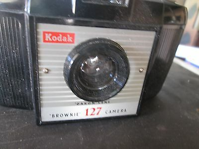 Vintage 1950s Kodak Brownie 127 Film Camera And Case