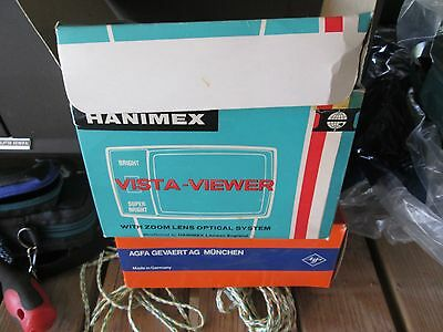 Hanimex Vista-Viewer Slide Viewer instructions power pack
