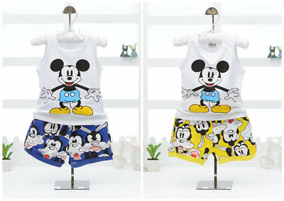 Boys summer clothes baby cotton Tank + short pants casual kids outfits cartoon