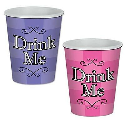 8 Alice in Wonderland Birthday 9 Ounce 9oz Hot or Cold Paper Cups Party Supplies