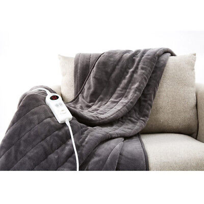 Electric Heated Throw Rug Snuggle Blanket Variable heat settings timer control