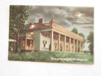 c475 vintage postcard Home of Washington Mt Vernon Virginia VA Mount