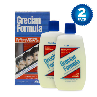 2 Pack Grecian Formula Liquid With Conditioner 8 OZ Gray White Hair Remover