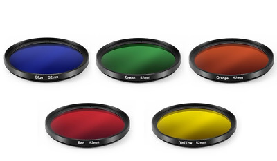 5 Color Filter Creative Photography set for Canon EF-S 18-135mm Lens