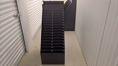 Rolling Literature Display Floor Stand Rack Unit Magazine Brochure Caster Wheels