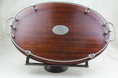 Antique Art Deco oval serving tray large