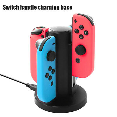 Joy-Con Controller Charging Stand Dock Charger for Nintendo Switch Console 4in1