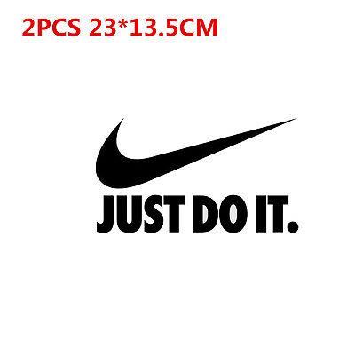 2 PCS NIKE JUST DO IT sports logo Heat transfer Iron on Patches FOR cloth DIY