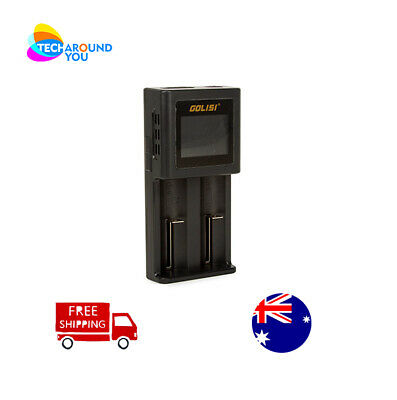 GOLISI 2 ports S2 Smart LCD Rechargeable Battery Charger Li-ion 18650 AA AAA