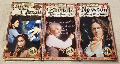 Lot of 3 INVENTORS & ARTISTS SPECIALS Feature Films for Families VHS Video Tapes
