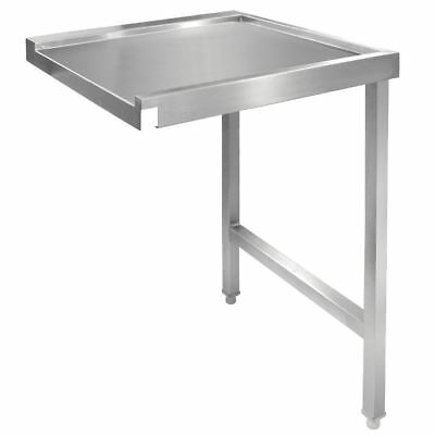 Vogue Pass Through Dishwash Table R 1100mm Stainless Steel Silver Colour