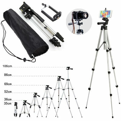 Universal Aluminum Camera Camcorder Tripod Stand w/ PHONE Holder For Canon Nikon