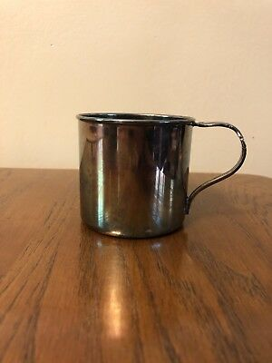 International Silver Co. Rogers Bros IS Reflection Baby Cup with Handle Antique