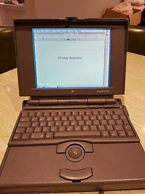 retro vintage Apple Powerbook 150 M2740 working with charger case and games
