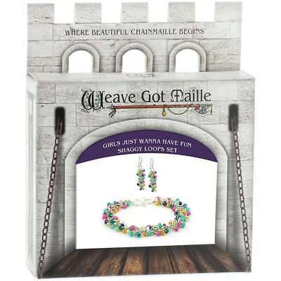 Chainmaile Bracelet & Earrings Jewelry Kit Girls Just Wanna Have  840657114015