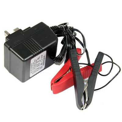 Trickle Charger Fitted With Crocodile Clips 12V Automotive Lead-Acid Batteries