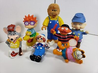 LOT 8 Rugrats Characters Toys Reptar Car Action Figures Angelica