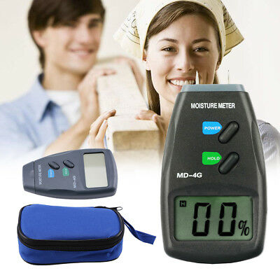 Wood Timber Plaster Sensor Digital LCD Damp Moisture Meter Detector Tester