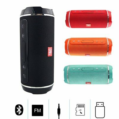 Wasserdicht Wireless Bluetooth Lautsprecher Stereo Bass Speaker FM TF USB AUX DE