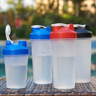 400/600ML BPA Free Shake Blender Shaker Mixer Cup Whisk Bottle Health Life TP