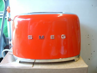 Smeg TSF01RDUK Red 50's Retro Style 2 Slice Toaster-Return-60 Day Warranty