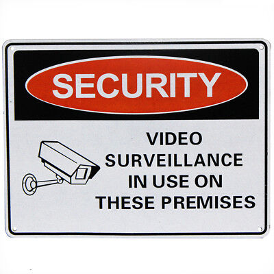 WARNING SECURITY NOTICE SIGN Video Surveillance in Use 225x300mm Metal Best Sell