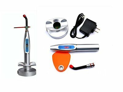 Dental Wireless Cordless 1500mw LED Light Cure Lamp 5W Curing Light Silver