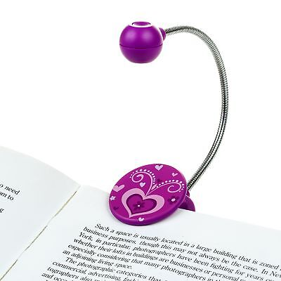Disc LED Reading Light by WITHit - Purple - LED Book Light with Chrome Neck for