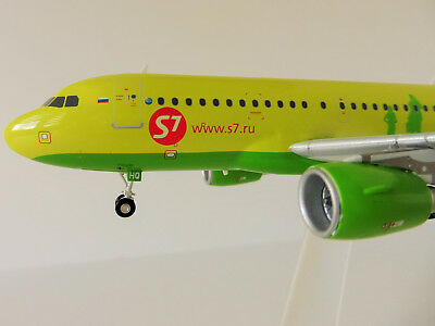 S7 AIRLINES Airbus A319 1/200 Herpa 559072 A 319 A320 Siberia MOSKAU ONEWORLD