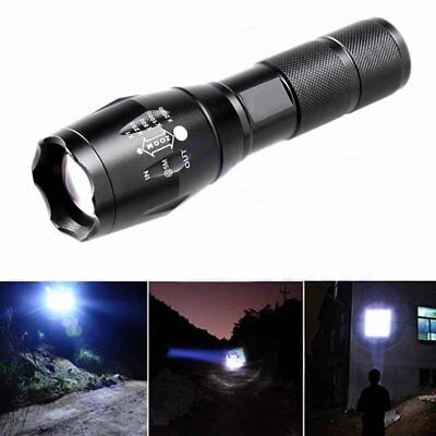 10000LM XM-L T6 LED Zoomable Flashlight Torch Lamp 18650/AAA G700 Tactical Light