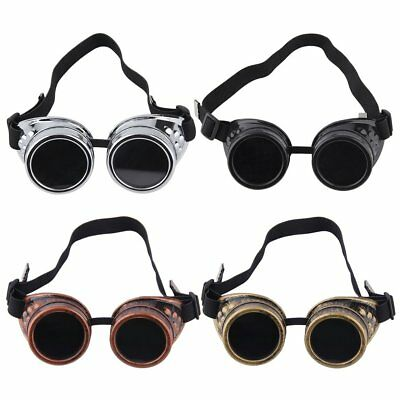 Cyber Goggles Steampunk Glasses Vintage Retro Welding Punk Gothic Victorian DF