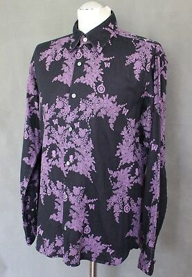e95968baa3f64c TED BAKER Mens Floral Pattern POGA SLIM FIT SHIRT - Ted Size 3 - Medium -