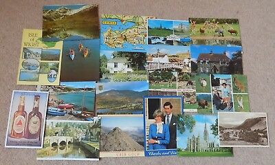 19 Old Postcards Great Britain Various Ages & Locations Posted & Unposted