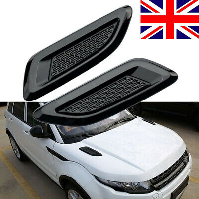2011 to 2016 Range Rover EVOQUE DYNAMIC DUMMY BONNET VENTS AIR WING TRIM GRILLES