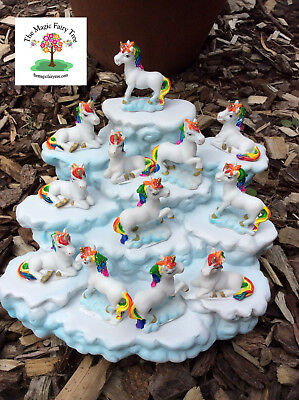 12 rainbow unicorns on cloud display unicorn craft decor cake decorations party