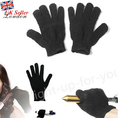 2× Heat Resistant Protective Gloves For Hair Straightener Curling Tongs Wand UK
