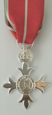 Full size Replica MBE (Member of the British Empire) Medal