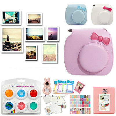 7 in 1 Camera Case Lens Bundles Set For Fujifilm Instax Mini i8/8+/9 Polaroid KT