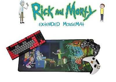 Rick And Morty Large Mousemat Xl Mouse Pad Gaming Mat For Pc,ps4,laptops,xbox