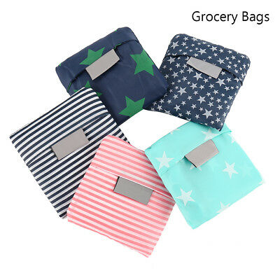 5 x FOLDABLE WATERPROOF Reusable Shopping Storage Bags Handbags Grocery Bag AU