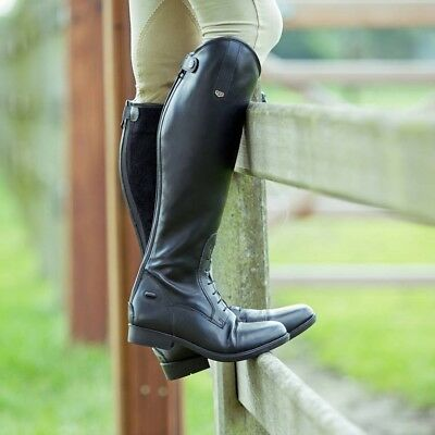HORZE ROVER FIELD LONG RIDING BOOTS BLACK - regular & wide calf
