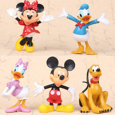 Mickey Mouse Figure Minnie Mouse Donald Duck Figurine Collectible New Toy 5PCS