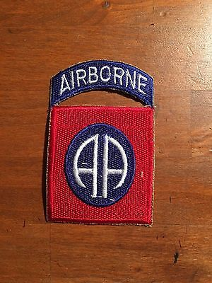 WWII US Army 82nd Airborne Division patch cut edge