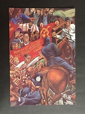 The Battle Of Cable Street By Ray Walker A Memorial Exhibition Advert Postcard