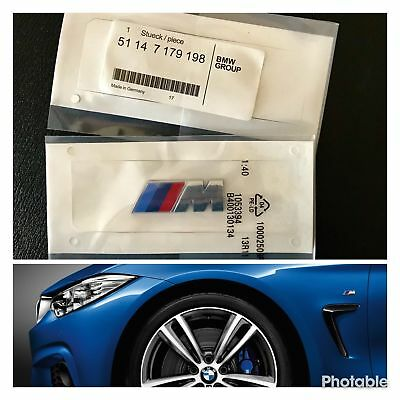 BMW 2x /// M Sport Emblem M Sticker Side Wing M Power Badge decoration