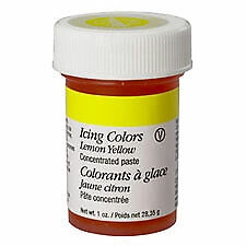 Wilton Icing Color Gel Lemon Yellow 1 Ounce   Cake Decorating   Certified Kosher