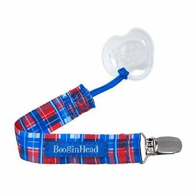 Booginhead Pacigrip Pacifier Clip Red and Blue